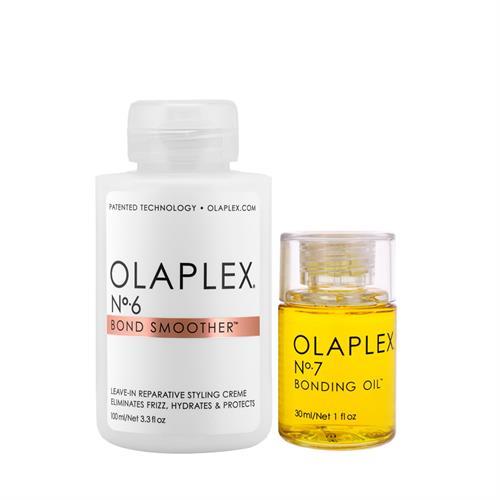 אולפלקס מארז 6+7 קרם משקם לעיצוב השיער וסרום משקם Olaplex 6+7