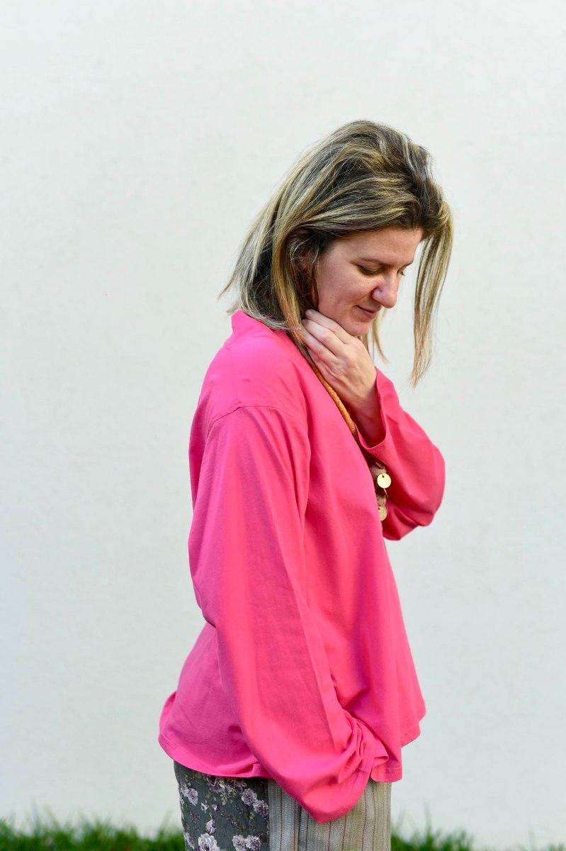 חולצות מדגם איה (שרוול ארוך) בצבע פוקסיה