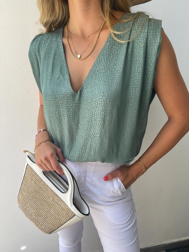 חולצת טיטי ירוק JOYAME