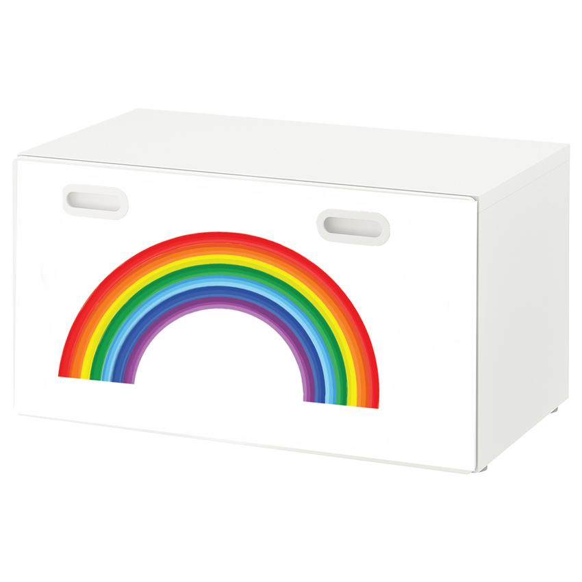 טפט דביק מותאם לספסל אחסון לצעצועים (STUVA)- קשת צבעונית