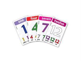 משחק רביעיות באנגלית gamelish | סופרים בצבעים 1-12  Numbers & Colors