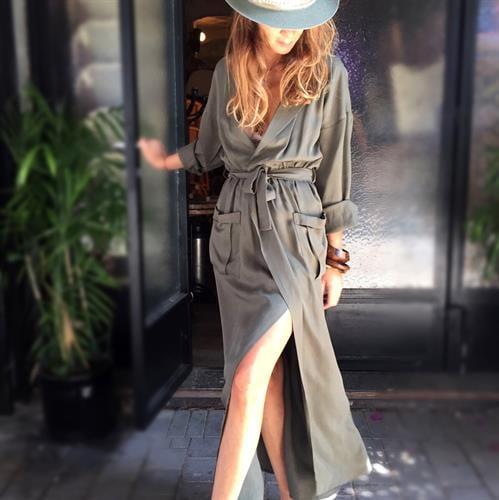 שמלת ננסי ירוק