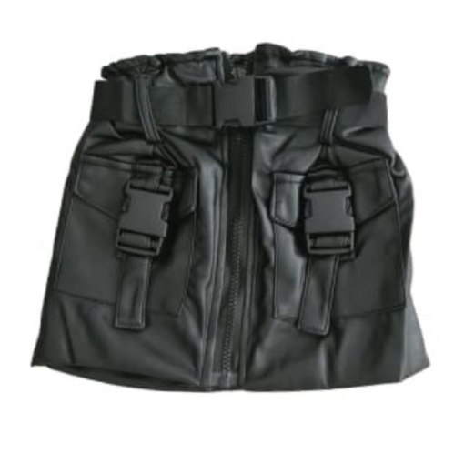 חצאית דמוי עור שחורה VIEW - בנות 2-14