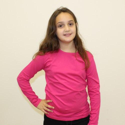 חולצת בית ספר מעבר בנות כותנה לייקרה