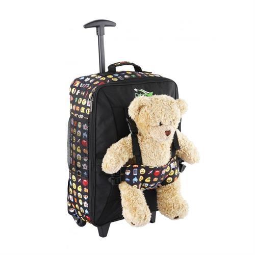 טרולי ותיק גב 50x34x20 CABIN MAX Bear Emoji  (ללא הדובי)