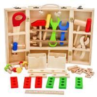 W03D103B - צעצוע לילדים ארגז כלי נגרות, קפיץ קפוץ