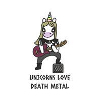 חולצת טי - Unicorns Love Death Metal