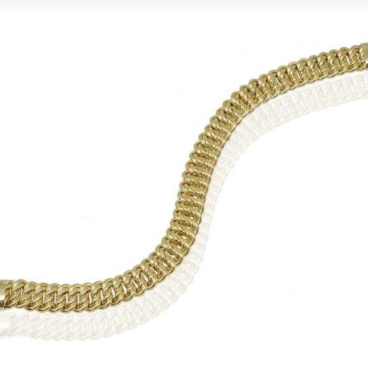 צמיד זהב חוליות  לאישה 1 סמ רוחב