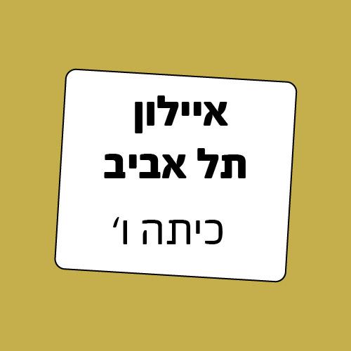כיתה ו' בית ספר איילון תל אביב