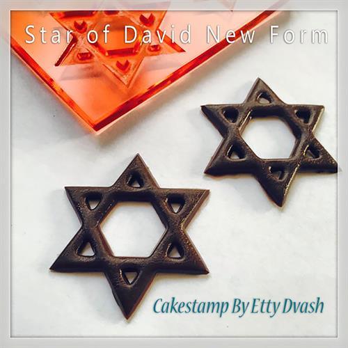 תבנית מגני דוד - סט אחד - ליצירה בשוקולד ובצק סוכר