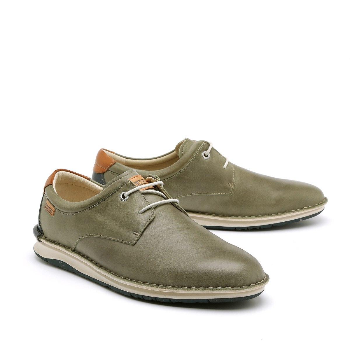 נעל שרוך לגבר מעור נפה רך וסוליה גמישה של המותג הספרדי PIKOLINOS