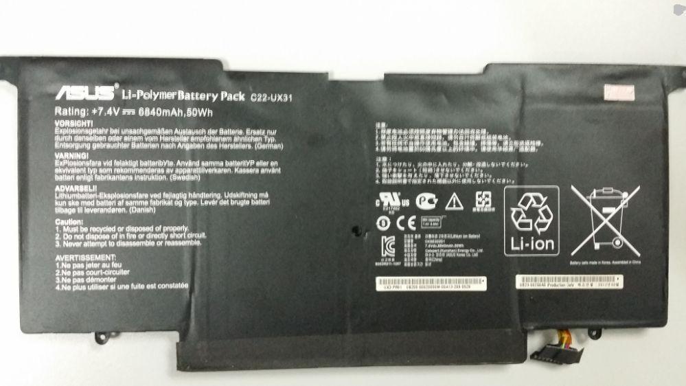 החלפת סוללה למחשב נייד אסוס ASUS ASUS ZENBOOK UX31 UX31A UX31E C22-UX31 C23-UX31 Laptop Battery