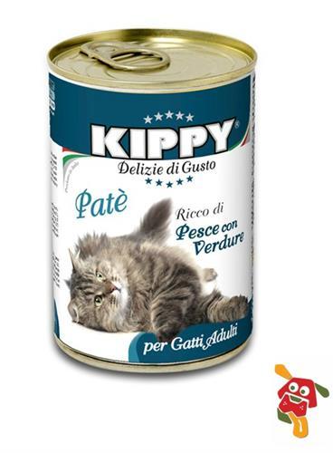 שימור פטה דגים וירקות לחתולים 400 גרם KIPPY