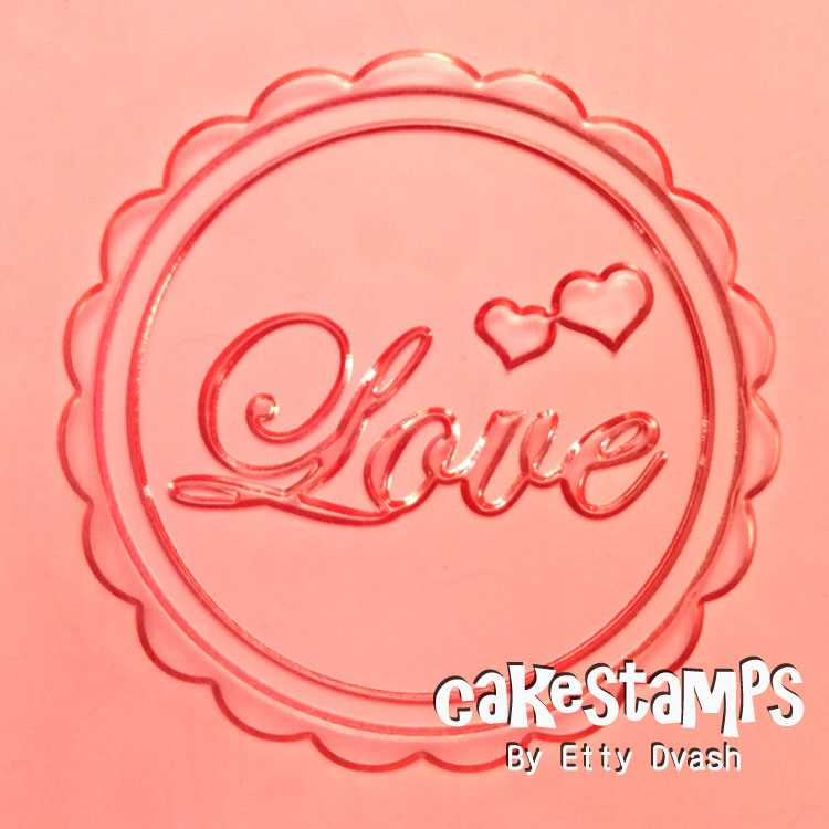 LOVE EMBOSSED STAMP