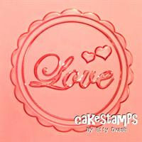 LOVE EMBOSSED STAMP