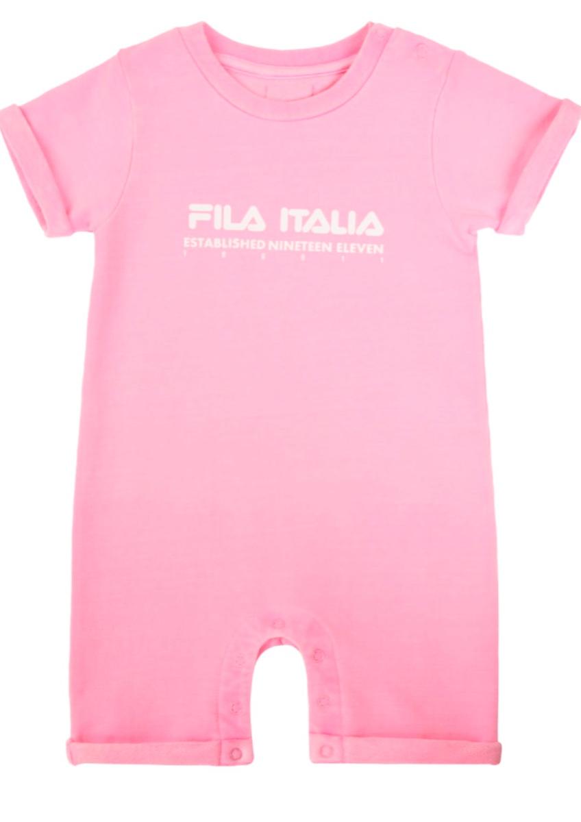 אוברול פרנץ טרי שרוול קצר תינוקות בנות מידות 6-18 חודשים