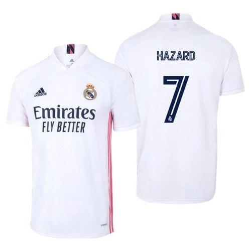 חולצת משחק ריאל מדריד בית 20/21 - HAZARD 7 (מידה L)