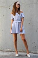 סט משבצות סופיה טופ + חצאית