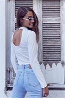 חולצת בייסיק מאיה מפתח גב שרוול ארוך