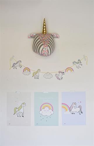 חבילת עיצוב לחדר חד קרן צבעוני