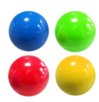 4 כדורים דביקים למשחק בצבעים שונים