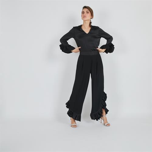חולצת פלמנקו שחורה