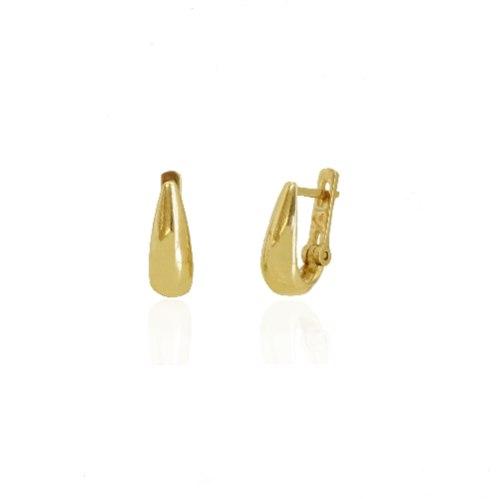 עגילי חישוק זהב 14K קטנים א סימטרים
