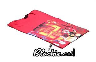 """חולצה אדומה לקיץ הדפס גראפי """"מר שם גם לו"""" 🍡"""