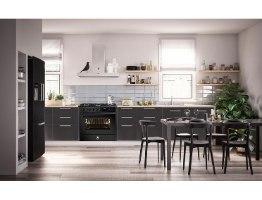 תנור בישול ואפיה משולב Steel דגם Enfasi 90 All Black E9F-6 NF שחור