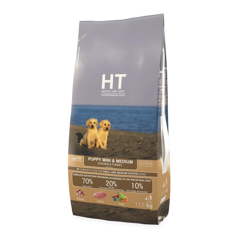 HT עוף והודו גורים 12.5 ק״ג מזון יבש לכלבים
