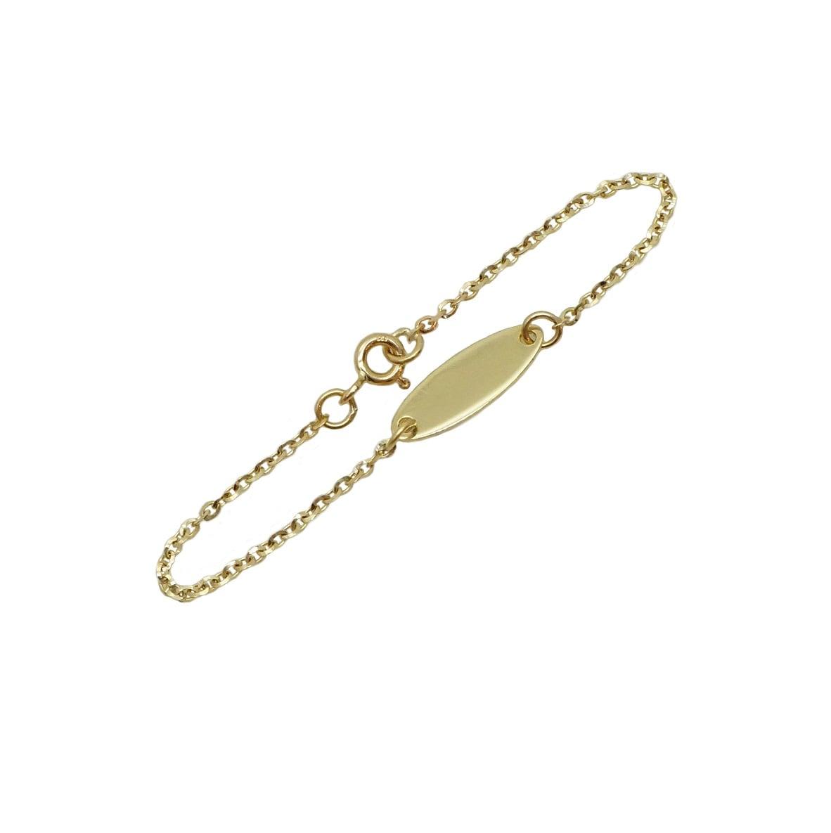 צמיד זהב עם חריטה לתינוקות |חריטת שם על צמיד| צמיד לתינוק| צמיד לתינוקת| צמיד שם לתינוקות |