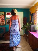 שמלת לייקרה מקסי פרחונית מס' 3 מידה S/M
