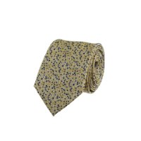 עניבה פרחים זעירים צהוב- כחול