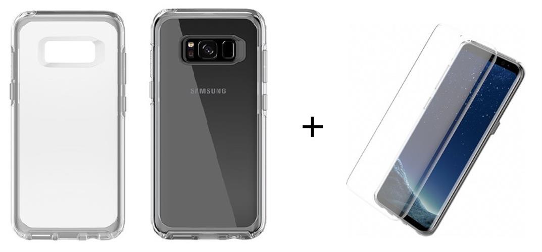 מגן לסמסונג + מגן מסך לסמסונג S8 גלאקסי Otterbox symmetry Samsung galaxy S8 + Otterbox Alpha Glass!