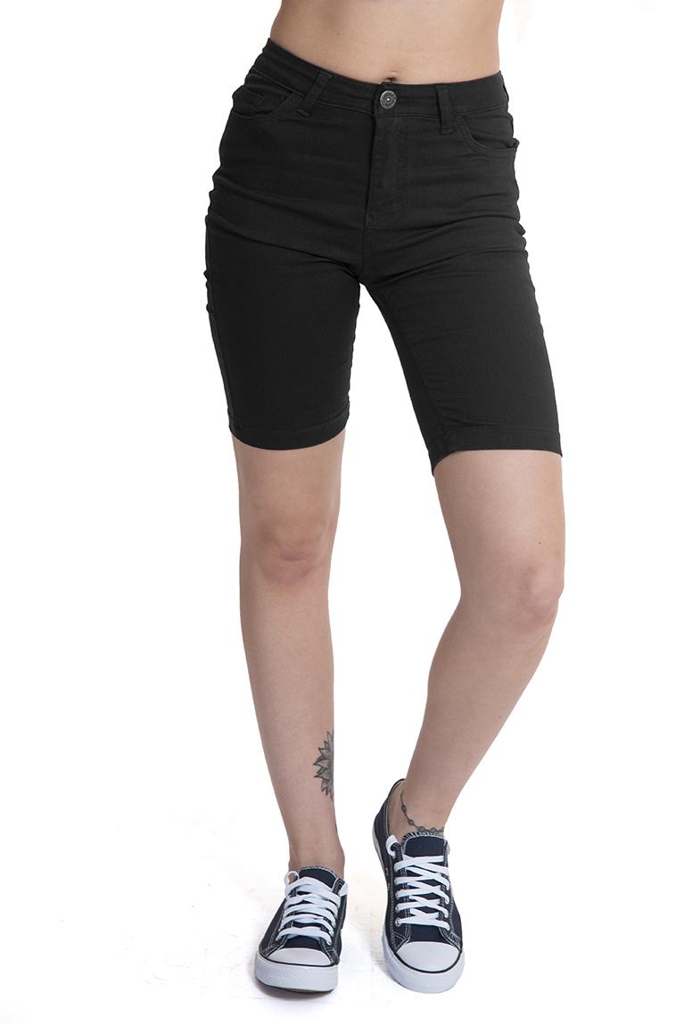 ג'ינס ברמודה שחור