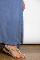 שמלת מקסי כפתורים כחולה