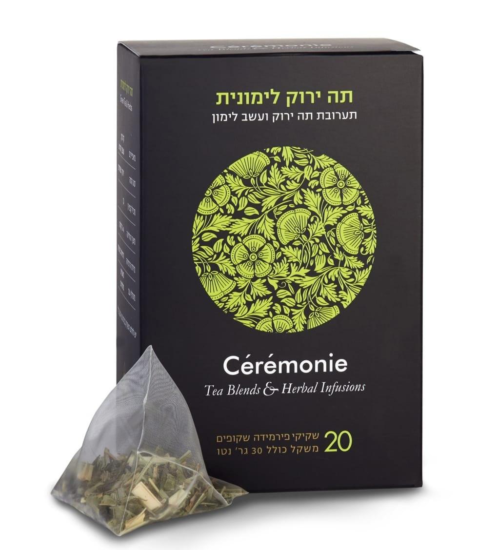 חליטת תה ירוק לימונית 20 יח'