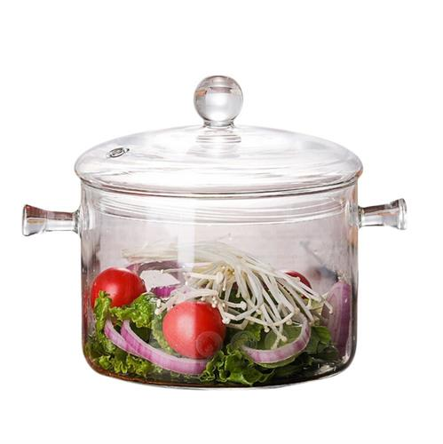 soup pot clear glass cooker salad instant noodle bowl cooking kitchen tool