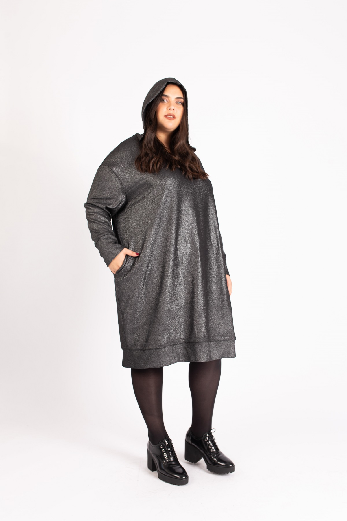 שמלת קפוצון לורקס כהה