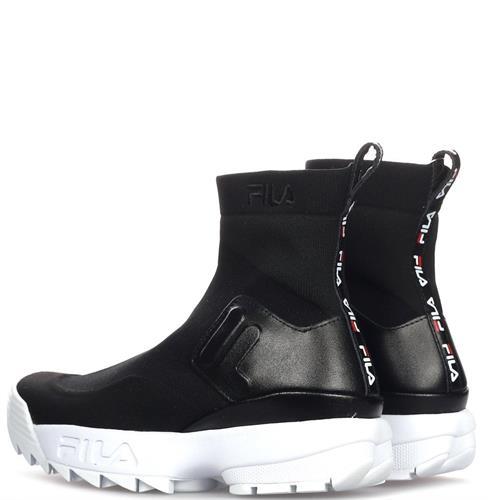 נעלי פילה נשים גבוהה  צבע שחור/לבן דגם Disruptor 536000138