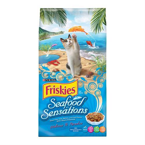 """פריסקיז מעדני הים מזון לחתולים 7.27 ק""""ג Friskies Seafood Sensations"""