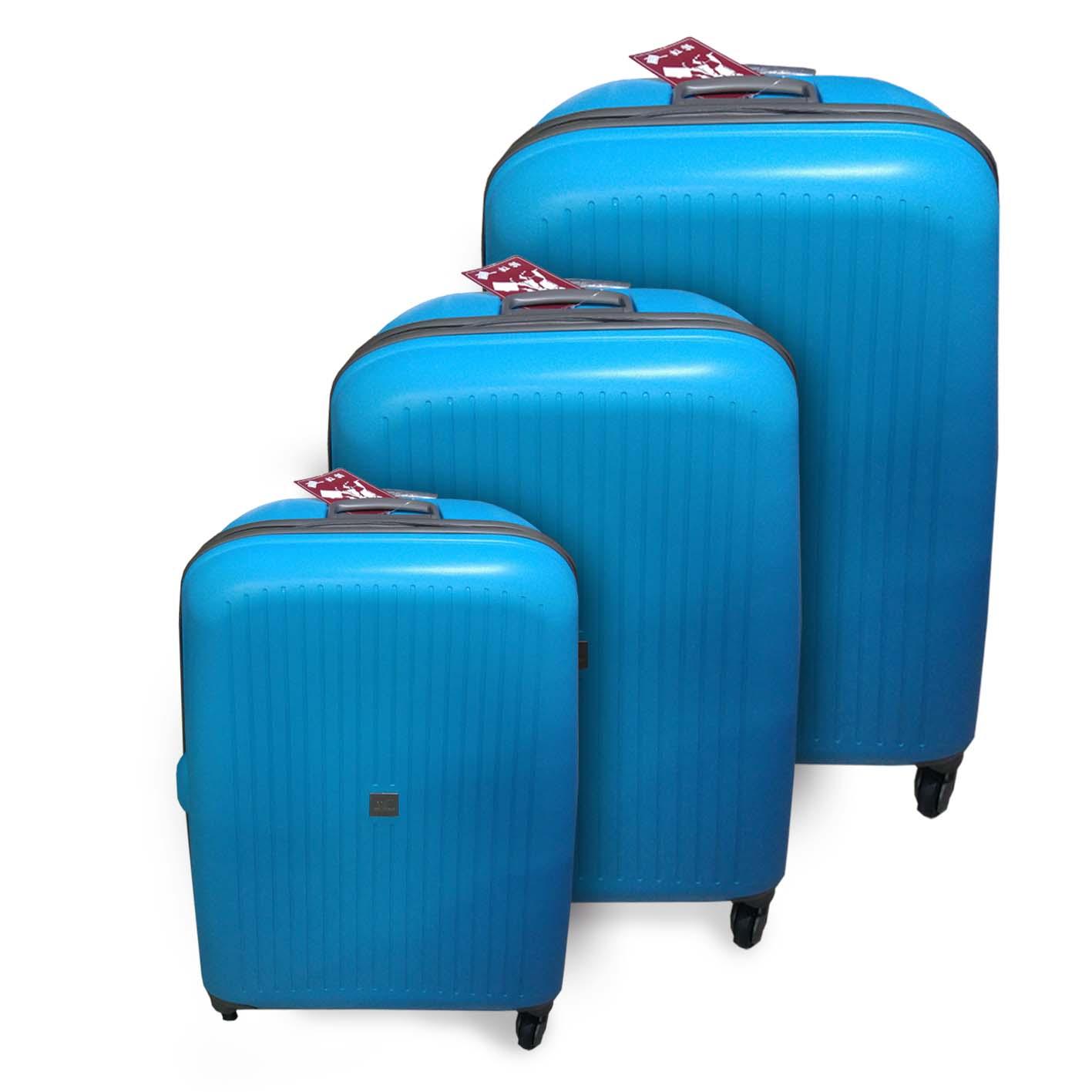סט טרול מזוודה 3 חלקים קשיח