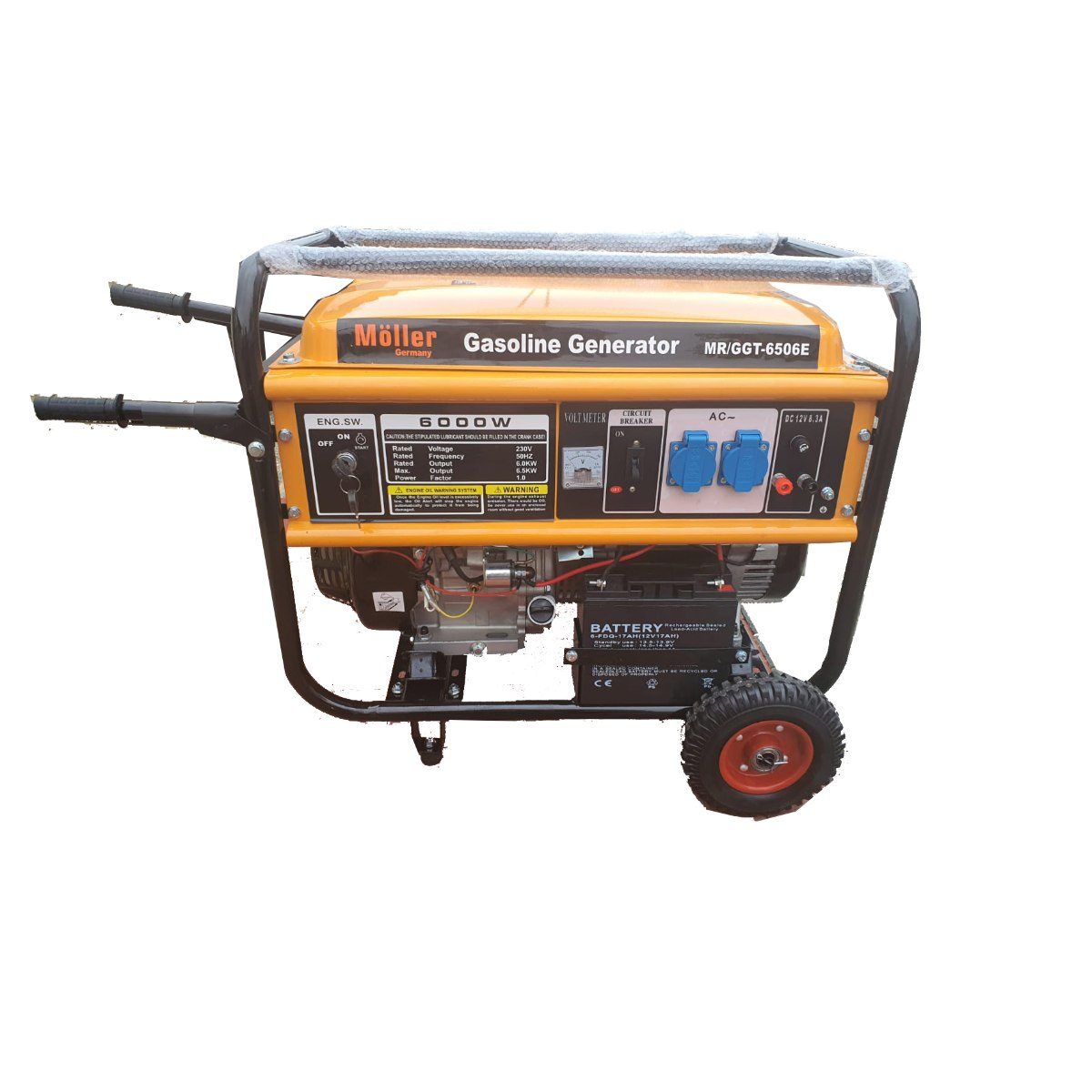 גנרטור מנוע בנזין  6500W התנעה חשמלית חד-פאזי