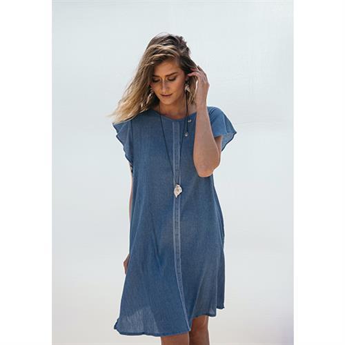 שמלת אנני ג'ינס מקומט