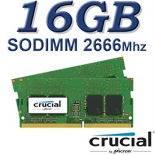 Crucial SODIMM 16GB DDR4 2666Mhz DRx8 260pin