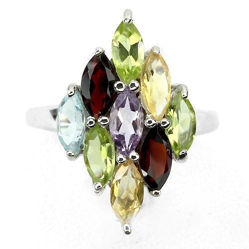 טבעת משובצת אבני חן RG1664