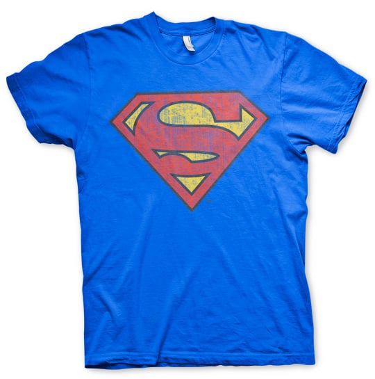 לוגו סופרמן - כחול