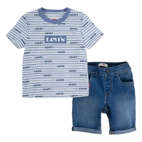 חליפת LEVIS חולצה ושורט ג׳ינס עם גומי - 3 חודשים עד 4 שנים
