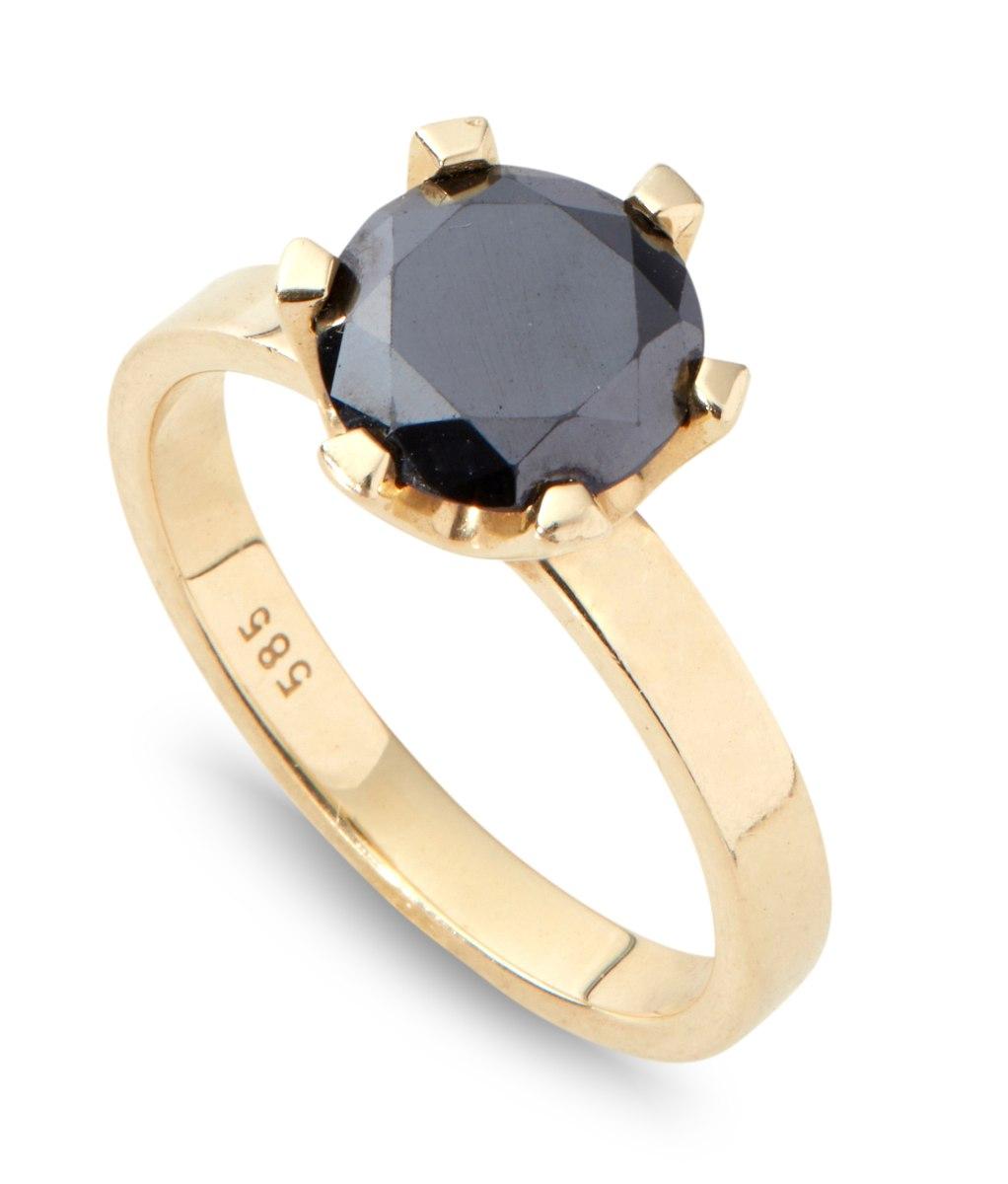 טבעת אנה יהלום שחור