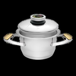"""סיר לבישול בריא בנפח 2 ליטר, קוטר 16 ס""""מ"""